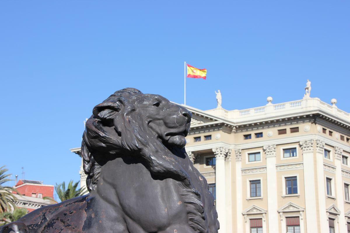 Barcelona Löwe an der Kolumbussäule